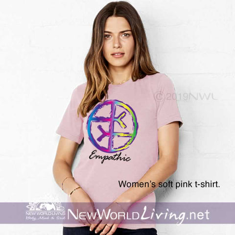 Our Empathic symbol soft pink t-shirt is a lightweight, short sleeve tshirt with a tailored, modern fit. It has a crew neck and a relaxed, comfortable feel. Everything you want in a well-loved Empath tee!