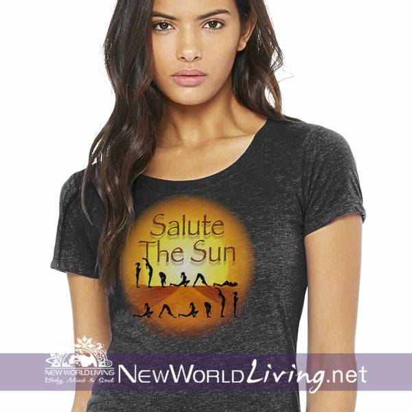 Salute The Sun Ladies Tshirt