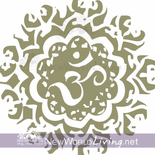 Ancient Om original artwork available exclusively at New World Living Apparel and Accessories.