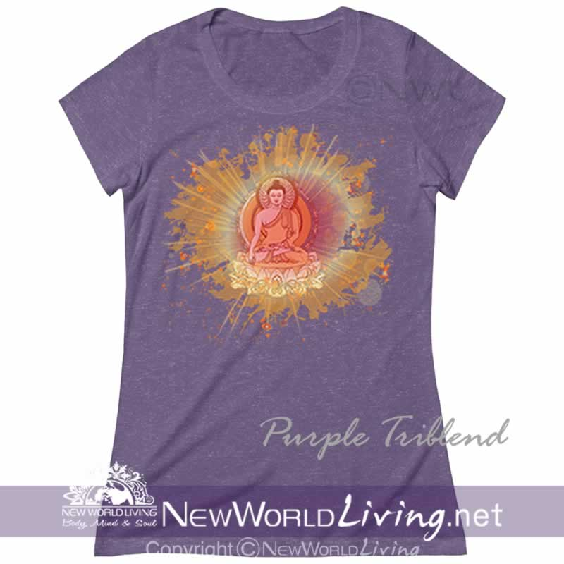 Our Transcend Womens Triblend Deep Crew Neck Tshirt is extra lightweight and features a uniquely soft heather fabrication, modern feminine fit, and a comfortable deep crew neck. S-2XL. Sold exclusively by New World Living Apparel.