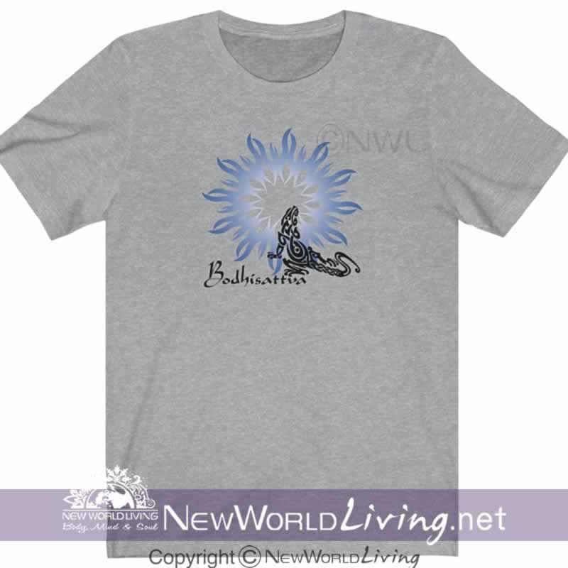 metaphysical, apparel, bodhisattva, tshirt, tee, clothes, clothing, new world living, short sleeve