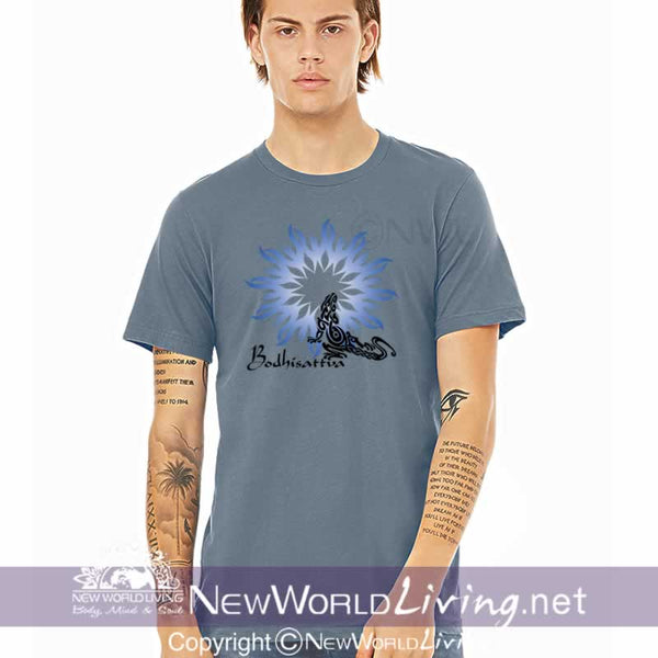 bodhisattva, metaphysical, apparel, tshirt, tee, clothes, clothing, new world living, short sleeve