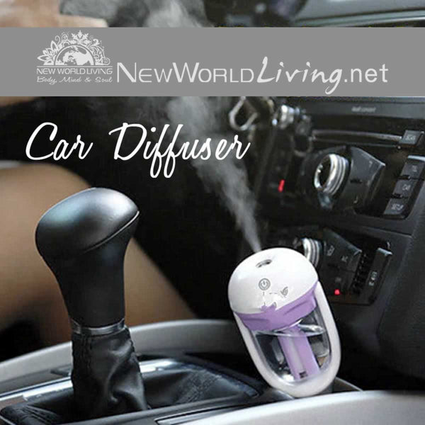 Aromatherapy Car Diffuser. Plug in to your car's cigarette lighter and enjoy #essentialoils on the go! #aromatherapy #oildiffusers #essentialoilsrock #freeshipping at NewWorldLiving.net