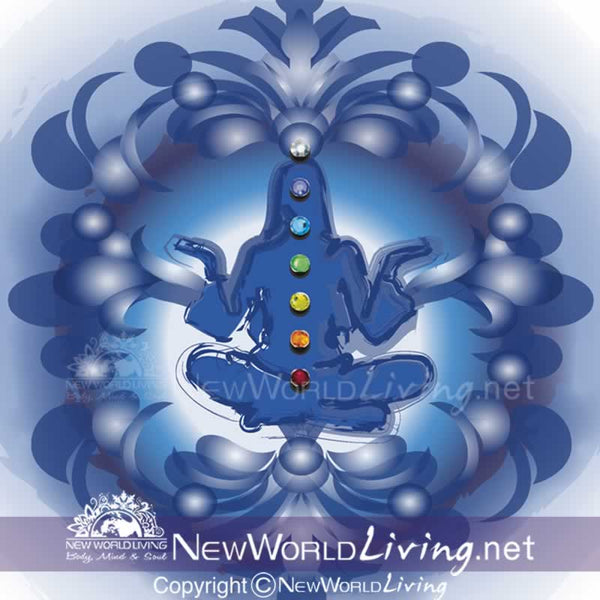 Chakra original artwork available exclusively at New World Living Apparel and Accessories.