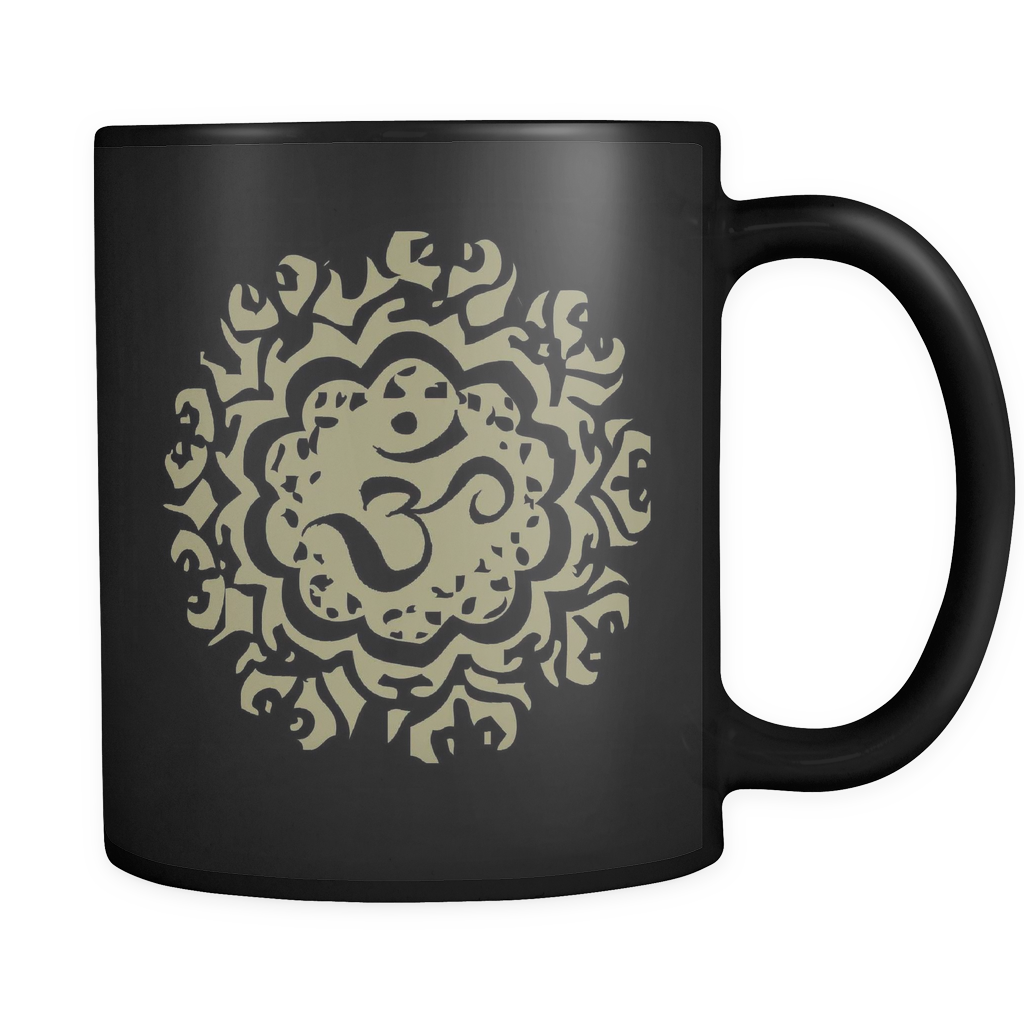 Ancient Om Black 11oz Mug