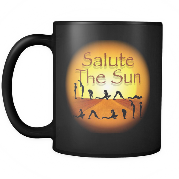 Salute The Sun Black 11oz Mug