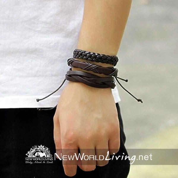 Mens Wrap Bracelets Multilayer sets