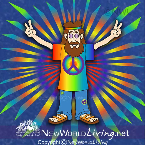 Peace Man artwork sold exclusively at New World Living. All rights reserved.