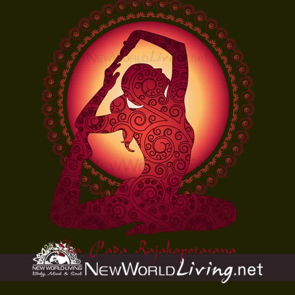Yoga Pigeon Pose tank tops sold exclusively at New World Living.
