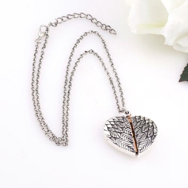 Angel Wings Locket Hidden Message Necklace