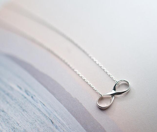 infinity, jewelry, necklace, pendant, sterling silver, infinity symbol