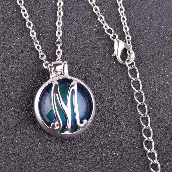 Initial Mood Pendant Necklaces