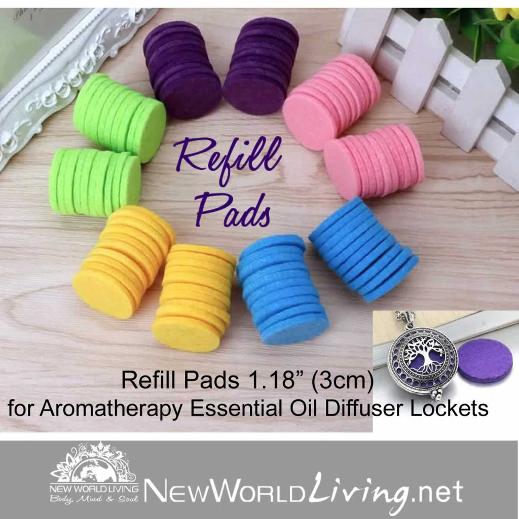 Refill Pads 20pc 30mm Assorted Colors for Aromatherapy Diffuser Necklaces