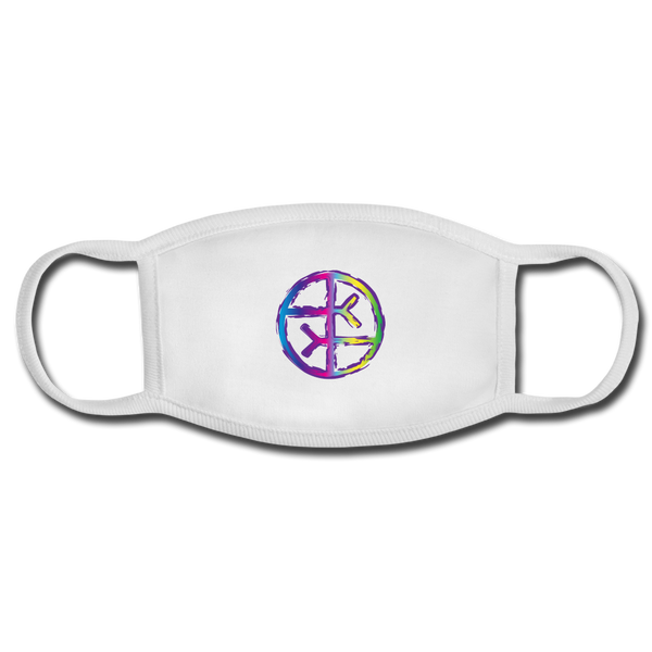 Empath Symbol Adult Face Mask - white/white