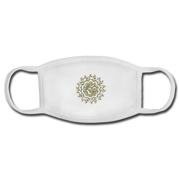 Ancient Om Adult Face Mask - white/white