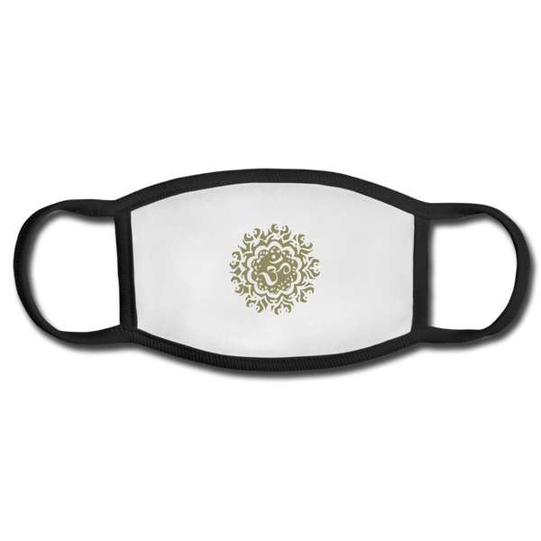 Ancient Om Adult Face Mask - white/black