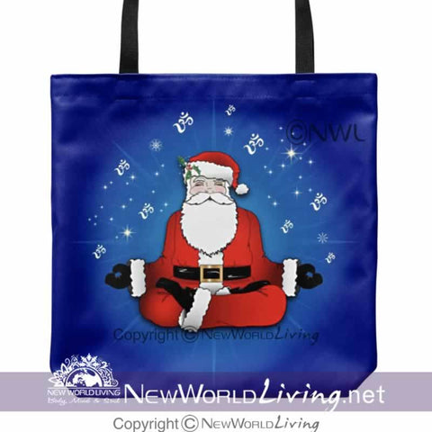 tote bag, christmas, santa, tote, accessories, holiday gifts,