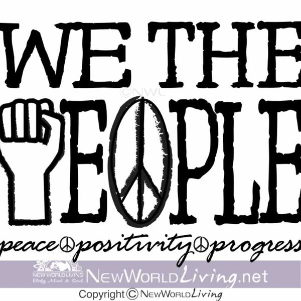We The People artwork sold exclusively at New World Living. All rights reserved.