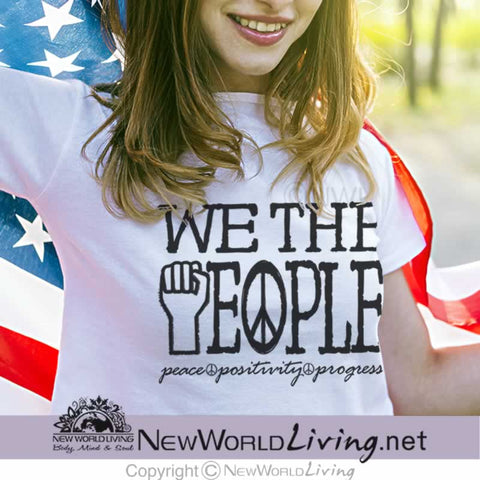 We The People Womens  tshirt features a tailored, modern fit, yet still has a relaxed, comfortable feel. Everything you want in a well-loved tee. T-shirt comes in sizes XS - 3XL.