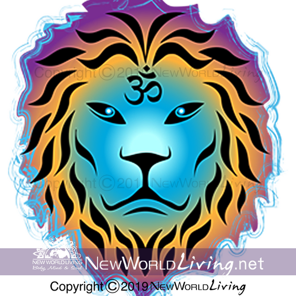 Zen Lion artwork for a short sleeves, relaxed fit, spiritual t-shirt. This positive tee comes in S - 4XL. Sold exclusively at New World Living.