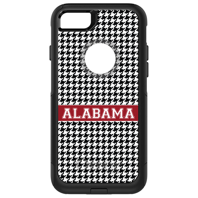 DistinctInk™ OtterBox Commuter Series Case for Apple iPhone or Samsung Galaxy - Alabama Crimson Houndstooth