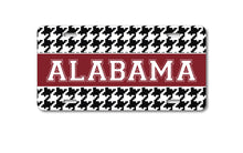 DistinctInk Custom Aluminum Decorative License Plate - Houndstooth - Alabama - Roll Tide