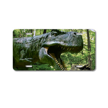 DistinctInk Custom Aluminum Decorative Vanity Front License Plate - T-Rex Dinosaurs Raptor