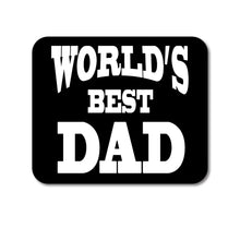 "DistinctInk Custom Foam Rubber Mouse Pad - 1/4"" Thick - Black White World's Best Dad"