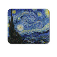 "DistinctInk Custom Foam Rubber Mouse Pad - 1/4"" Thick - Van Gogh Starry Night"