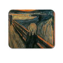 "DistinctInk Custom Foam Rubber Mouse Pad - 1/4"" Thick - Edvard Munch The Scream"