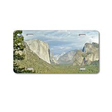 DistinctInk Custom Aluminum Decorative Vanity Front License Plate - Yosemite Tunnel View