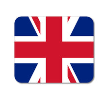 "DistinctInk Custom Foam Rubber Mouse Pad - 1/4"" Thick - Red White Blue British Flag UK"