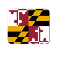 "DistinctInk Custom Foam Rubber Mouse Pad - 1/4"" Thick - Maryland State Flag"