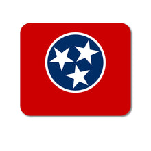 "DistinctInk Custom Foam Rubber Mouse Pad - 1/4"" Thick - Tennessee State Flag"