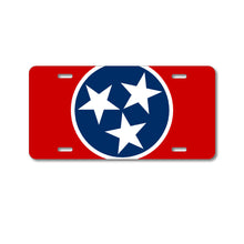 DistinctInk Custom Aluminum Decorative Vanity Front License Plate - Tennessee State Flag