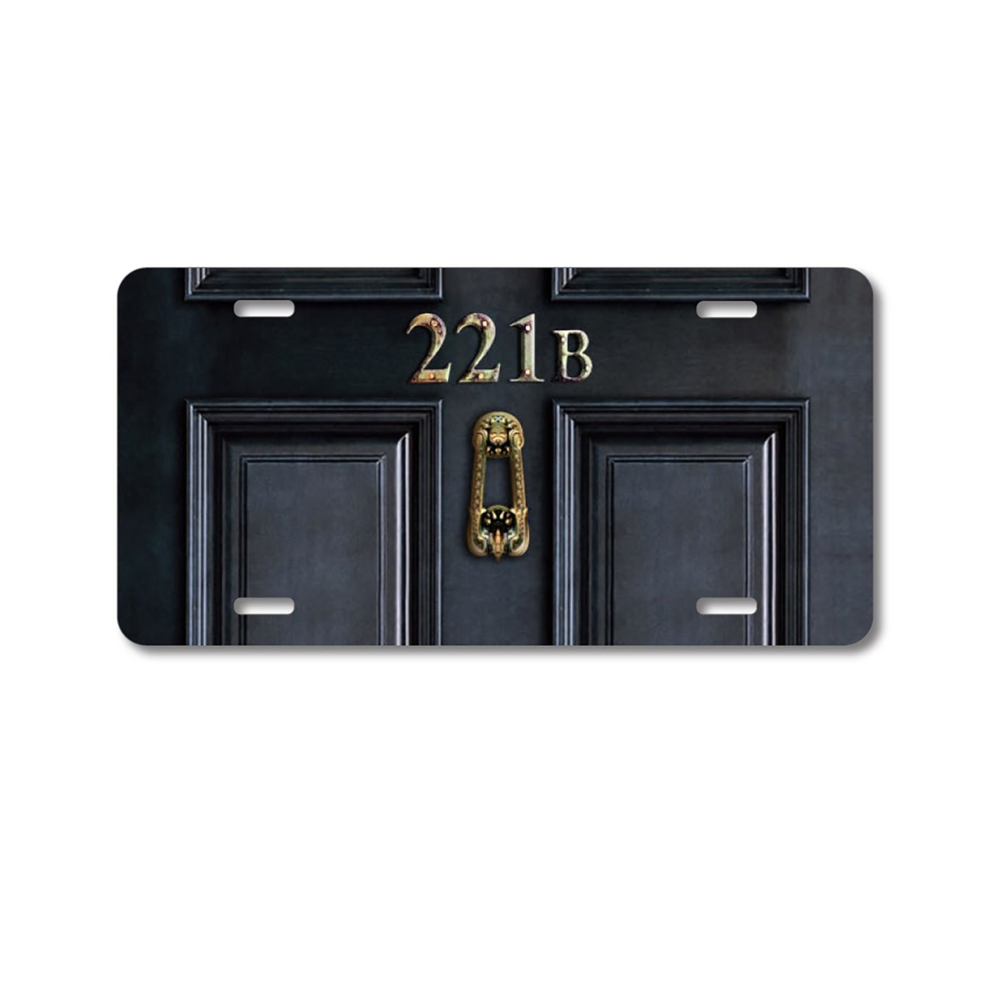 DistinctInk Custom Aluminum Decorative Vanity Front License Plate - 221b Baker Street