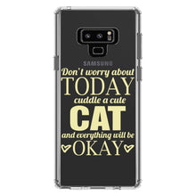 DistinctInk® Clear Shockproof Hybrid Case for Apple iPhone / Samsung Galaxy / Google Pixel - Cuddle a Cat Everything Will Be Okay