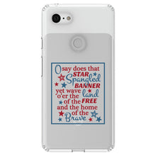 DistinctInk® Clear Shockproof Hybrid Case for Apple iPhone / Samsung Galaxy / Google Pixel - Star Spangled Banner Word Art