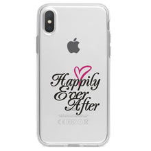 DistinctInk® Clear Shockproof Hybrid Case for Apple iPhone / Samsung Galaxy / Google Pixel - Happily Ever After Heart