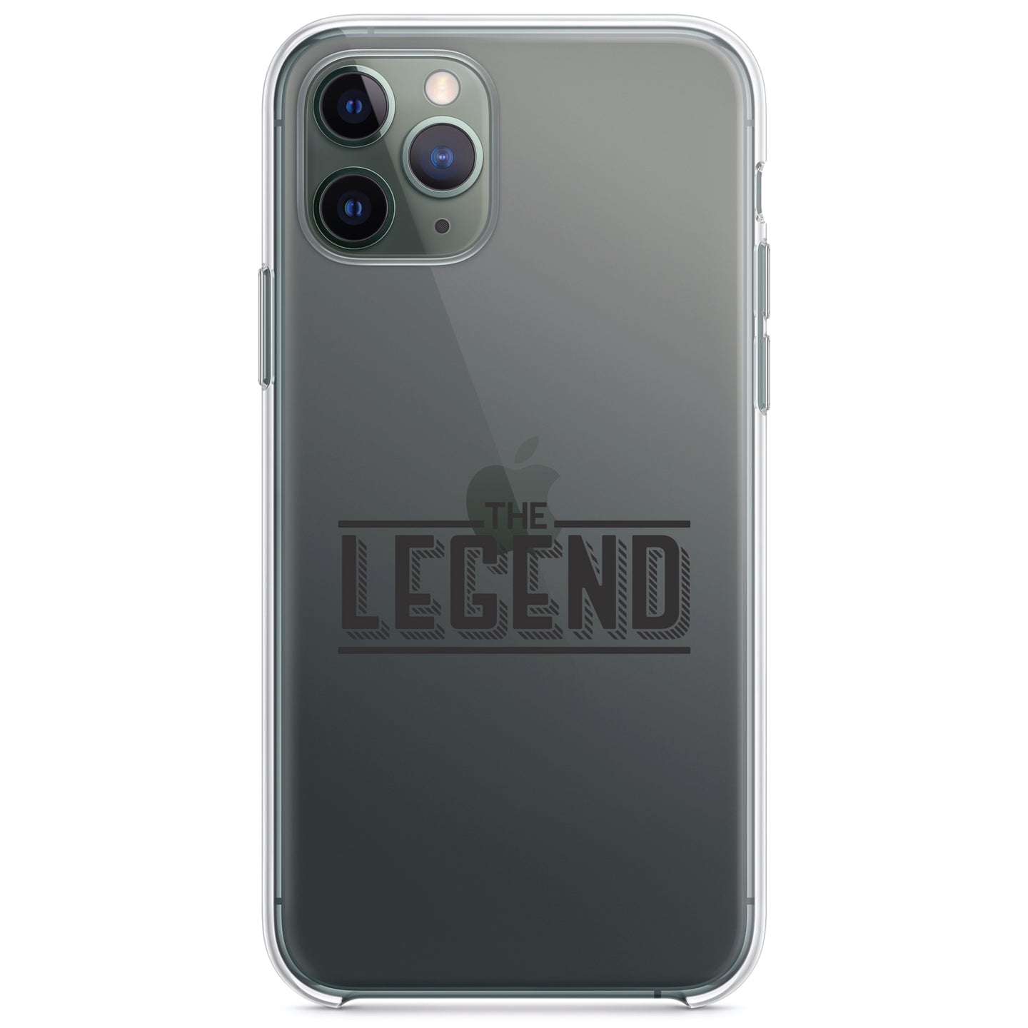 DistinctInk® Clear Shockproof Hybrid Case for Apple iPhone / Samsung Galaxy / Google Pixel - The Legend