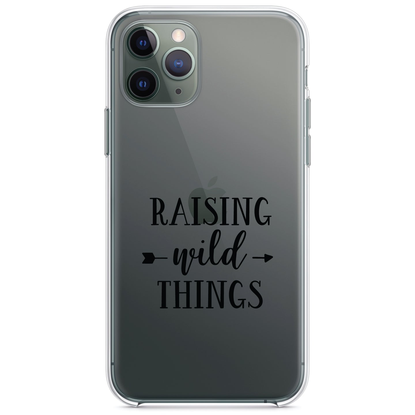 DistinctInk® Clear Shockproof Hybrid Case for Apple iPhone / Samsung Galaxy / Google Pixel - Raising Wild Things - Mom
