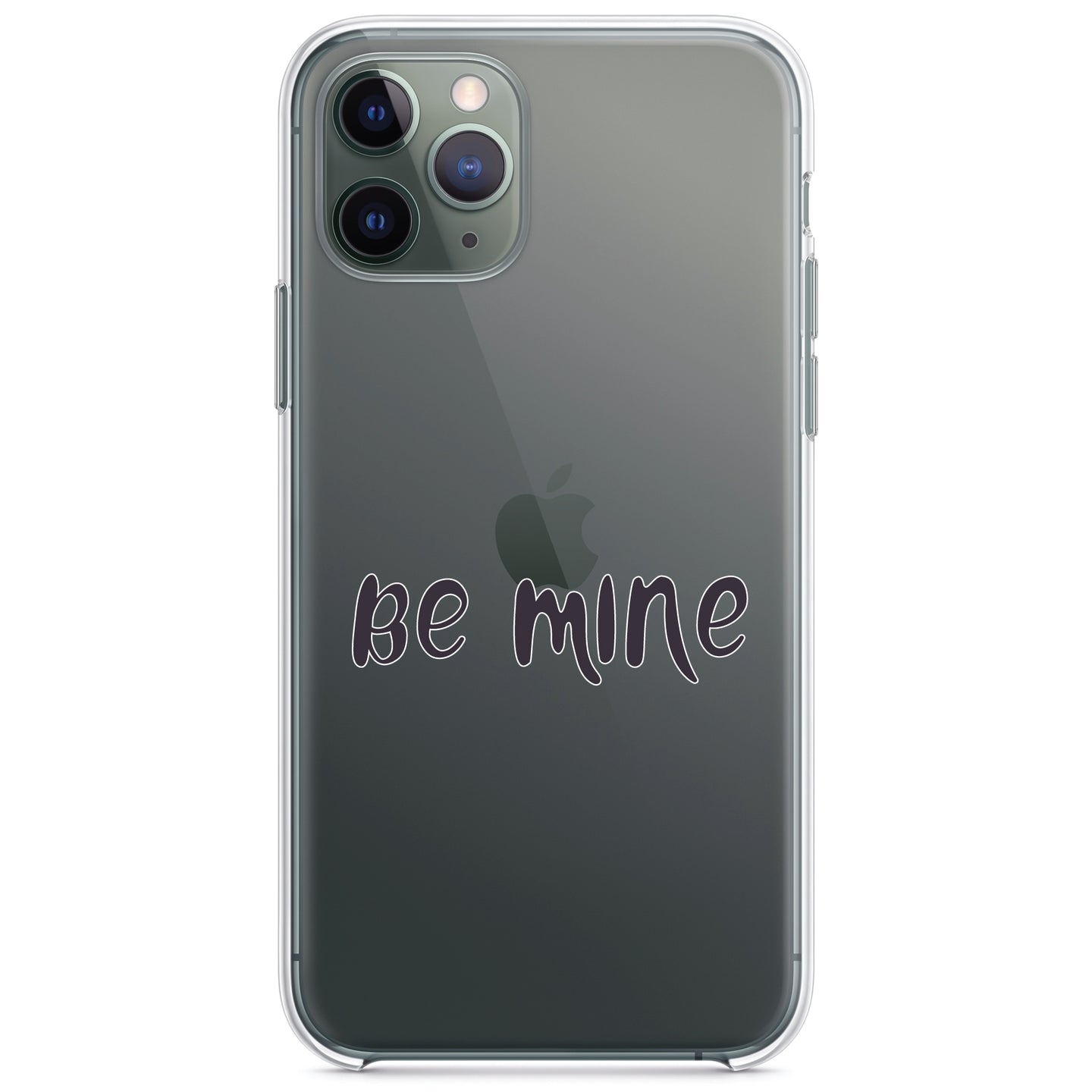 DistinctInk® Clear Shockproof Hybrid Case for Apple iPhone / Samsung Galaxy / Google Pixel - Be Mine - Valentine's Day