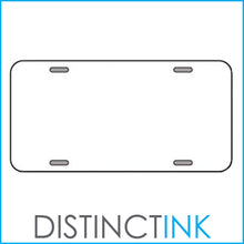 DistinctInk Custom Aluminum Decorative Vanity Front License Plate - Purple White Scalloped Pattern