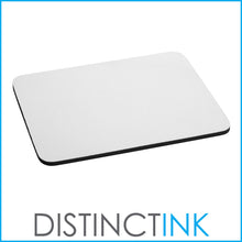 "DistinctInk Custom Foam Rubber Mouse Pad - 1/4"" Thick - Blue Yellow Equality Symbol"