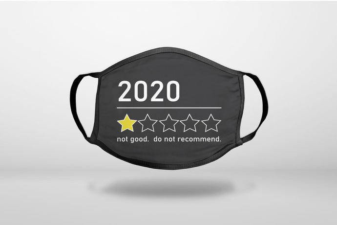 2020 1 Star Review Do Not Recommend - 3-Ply Reusable Soft Face Mask Covering, Unisex, Cotton Inner Layer
