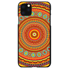 DistinctInk® Hard Plastic Snap-On Case for Apple iPhone - Orange Teal Yellow Tribal Print