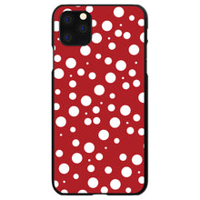 DistinctInk® Hard Plastic Snap-On Case for Apple iPhone - Red White Bubbles Polka Dots