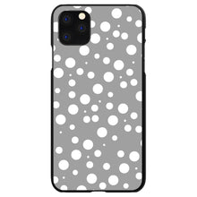 DistinctInk® Hard Plastic Snap-On Case for Apple iPhone - Silver White Bubbles Polka Dots