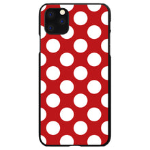 DistinctInk® Hard Plastic Snap-On Case for Apple iPhone - White & Red Polka Dots