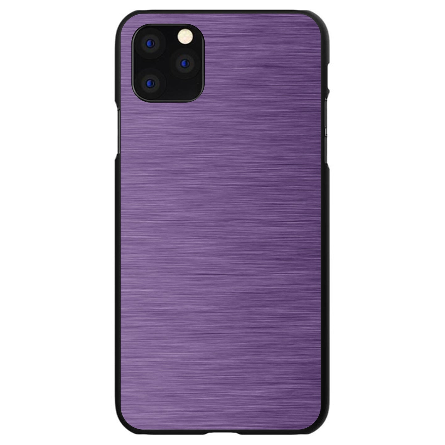 DistinctInk® Hard Plastic Snap-On Case for Apple iPhone - Purple Stainless Steel Print